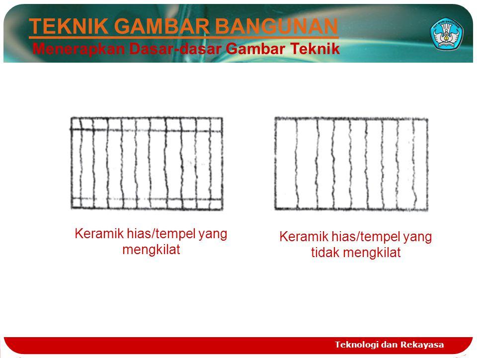 Teknologi dan Rekayasa TEKNIK GAMBAR BANGUNAN Menerapkan Dasar-dasar Gambar Teknik Keramik hias/tempel yang tidak mengkilat Keramik hias/tempel yang m