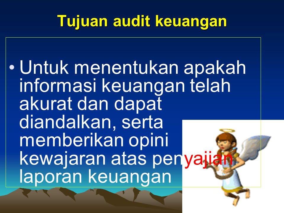 3) Auditor Intern Pekerjaan auditor intern tdk bisa sbg pengganti pekerjaan auditor ekternal, melankan bisa menjadi pelengkap.
