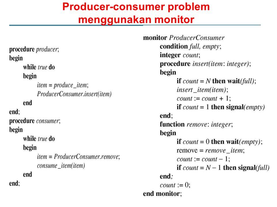 Producer-consumer problem menggunakan monitor