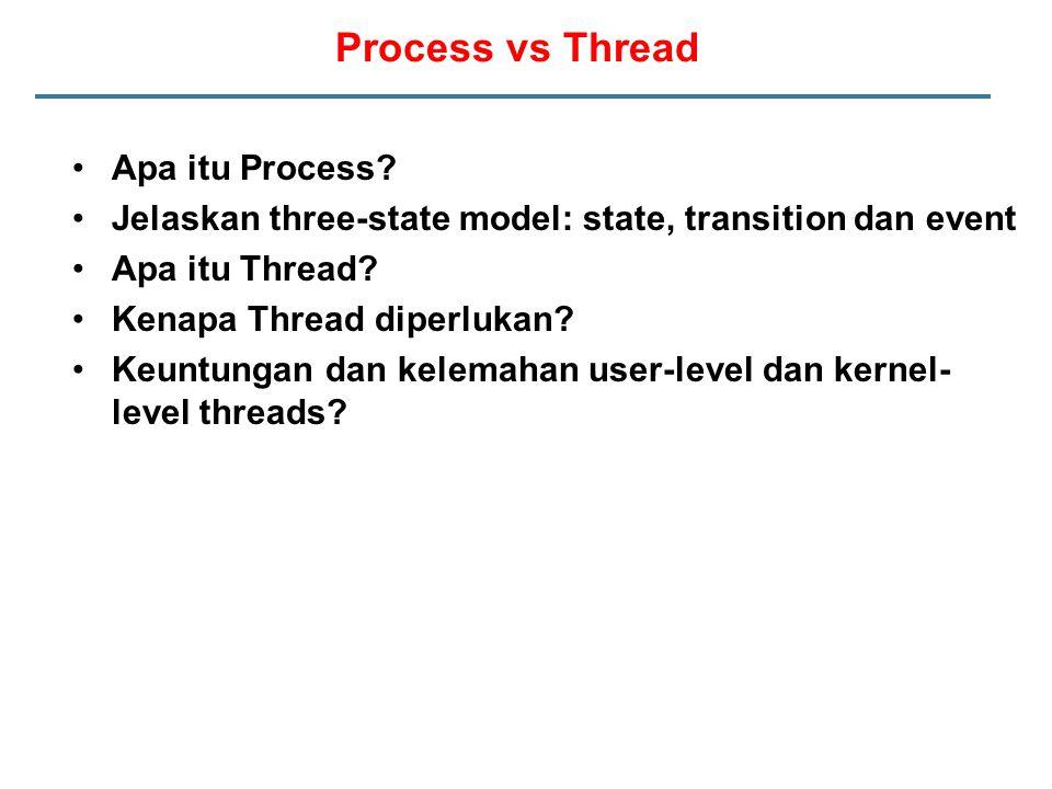 Process vs Thread Apa itu Process.