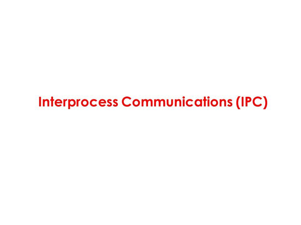 Interprocess Communications (IPC)