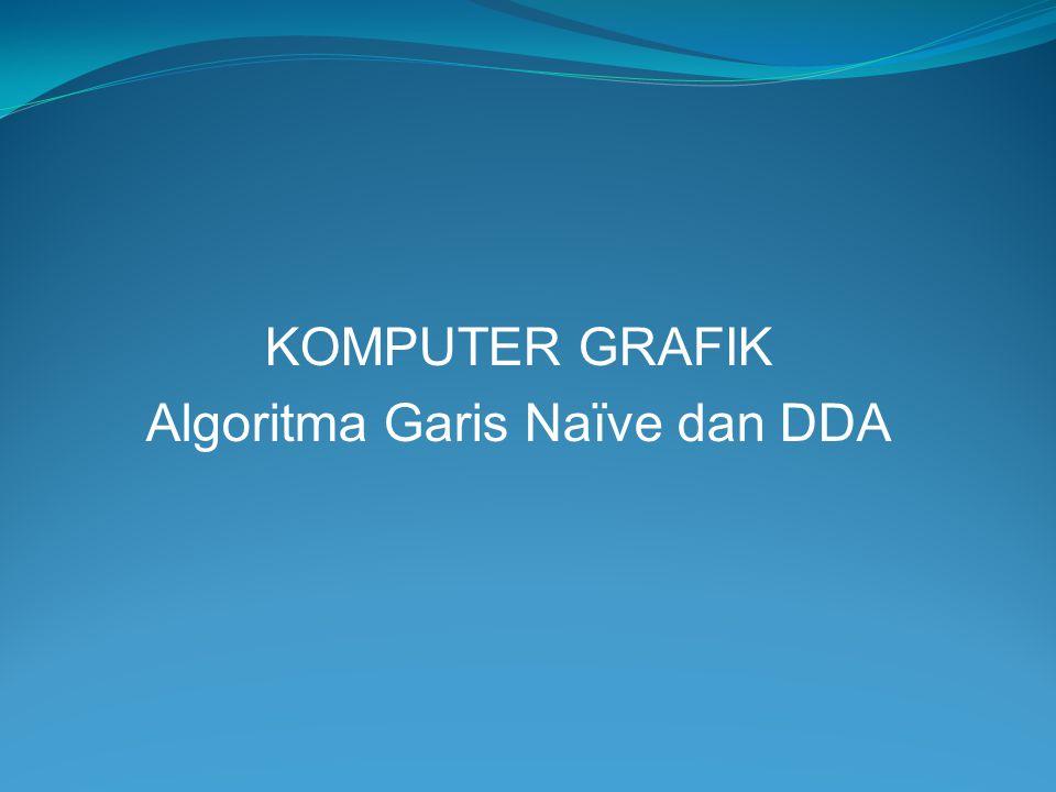 KOMPUTER GRAFIK Algoritma Garis Naïve dan DDA