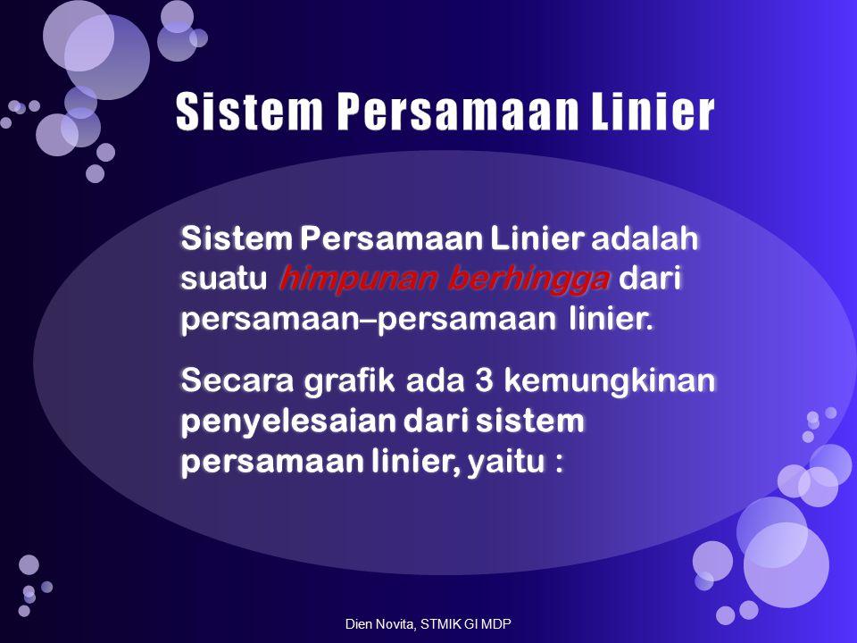 x y l1 l2 l1 l2 l1 dan l2 x y x y (a) (b)(c) Dien Novita, STMIK GI MDP
