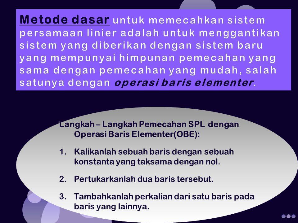 Dien Novita, STMIK GI MDP (1/2)b1 2b1+b2 7b1+b3 (1/7)b2 - 14b2+b3 -b2+b1