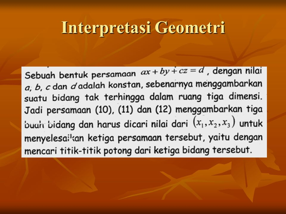 Interpretasi Geometri