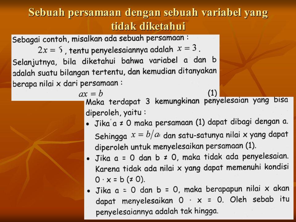 Sistem dengan dua persamaan dengan dua variabel yang tidak diketahui Ada banyak cara yang digunakan untuk menyelesaikan persamaan tersebut.