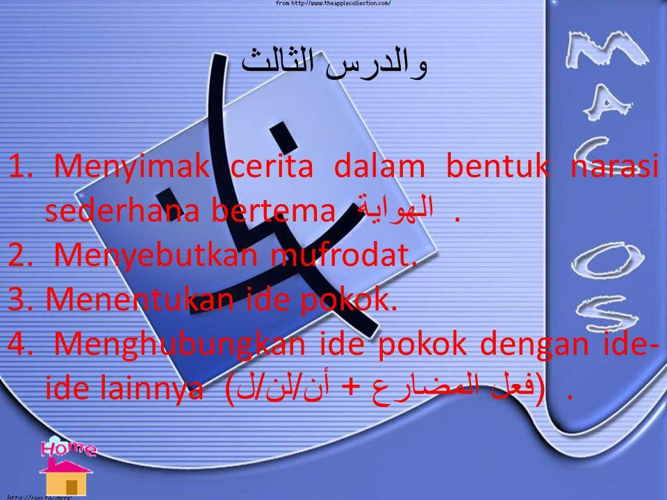الدرس الثاني Pengenalan Fi'il Mudlorik. Pengenalan kata: an, lan, lii ( لن, لـ, أن ).