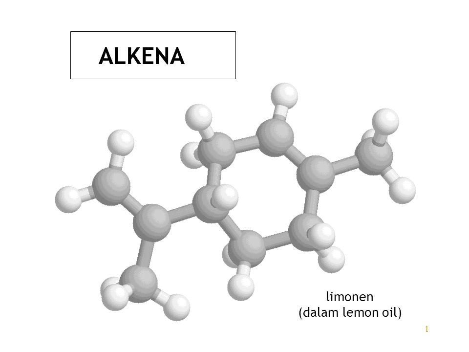 1 ALKENA limonen (dalam lemon oil)