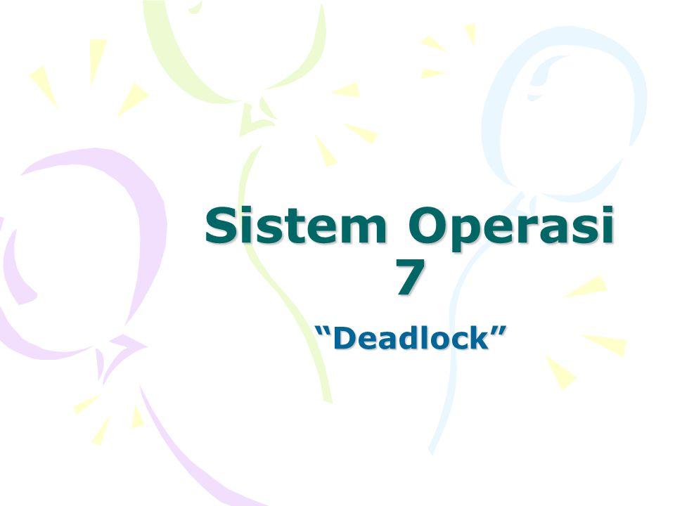 """Sistem Operasi 7 """"Deadlock"""""""