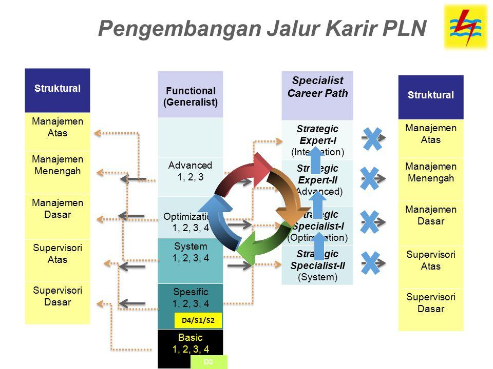 Functional (Generalist) Advanced 1, 2, 3 Optimization 1, 2, 3, 4 System 1, 2, 3, 4 Spesific 1, 2, 3, 4 Basic 1, 2, 3, 4 Struktural Manajemen Atas Mana