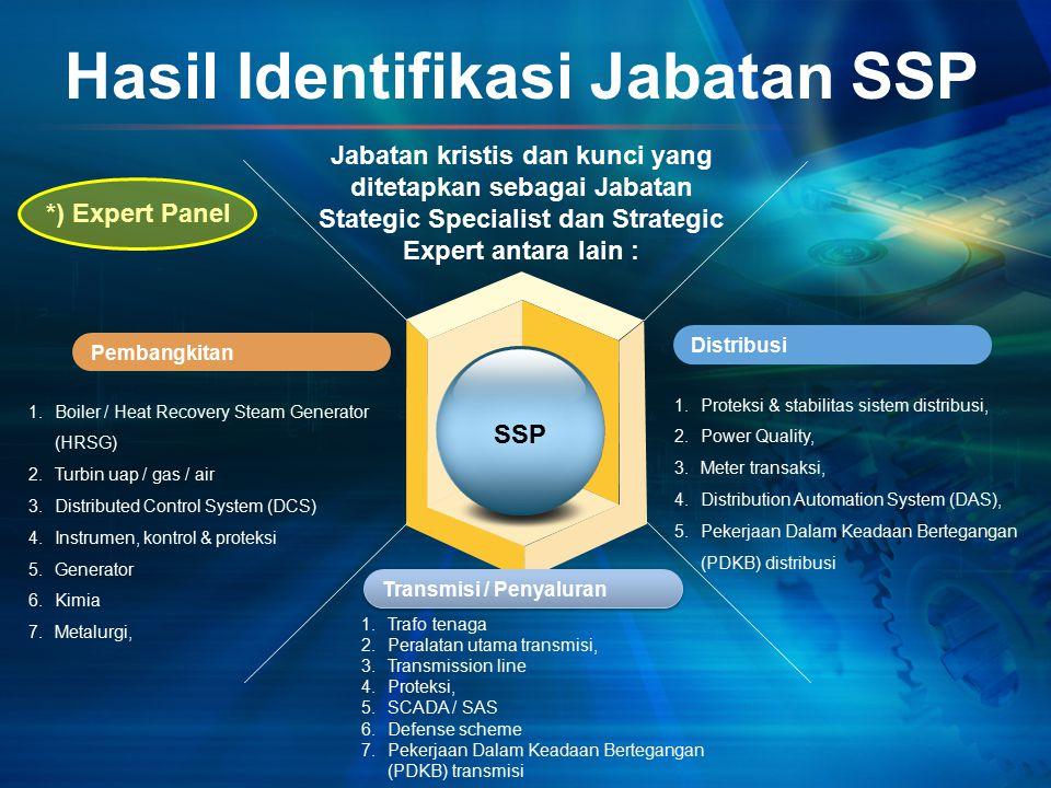 Hasil Identifikasi Jabatan SSP Pembangkitan Distribusi Jabatan kristis dan kunci yang ditetapkan sebagai Jabatan Stategic Specialist dan Strategic Exp