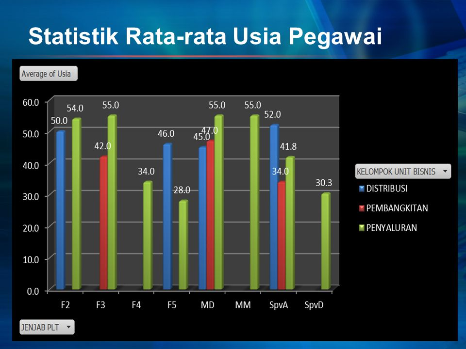 Statistik Rata-rata Usia Pegawai