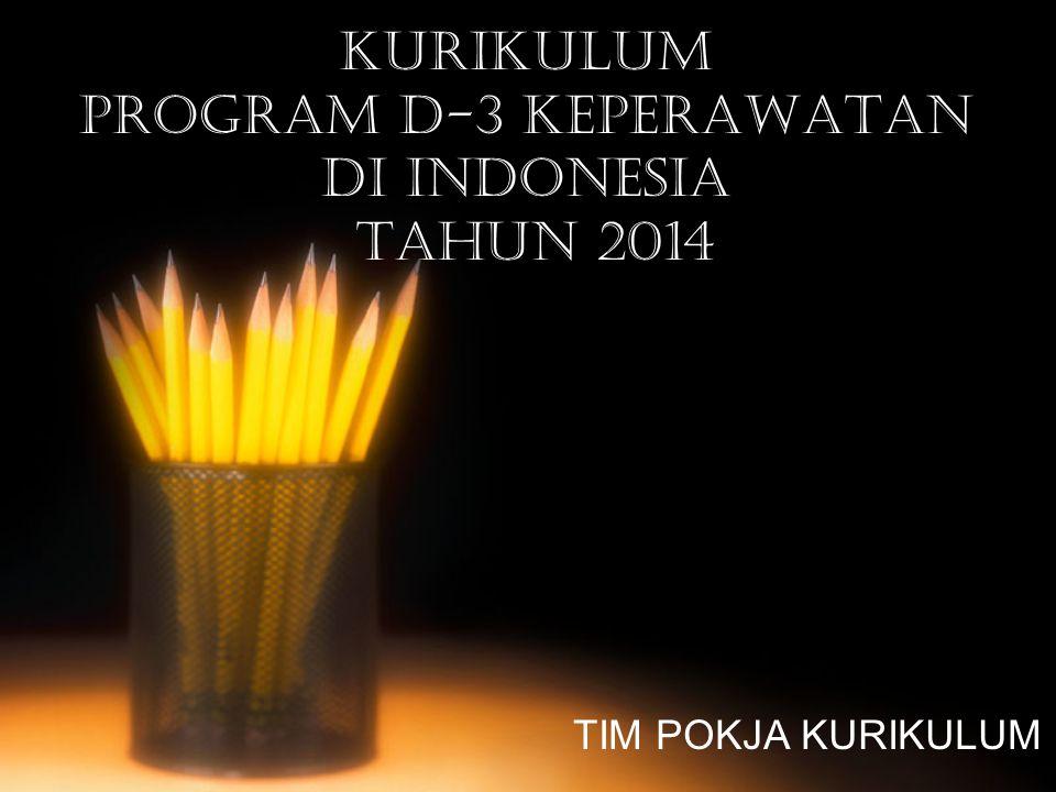 KURIKULUM PROGRAM D-3 KEPERAWATAN DI INDONESIA TAHUN 2014 TIM POKJA KURIKULUM