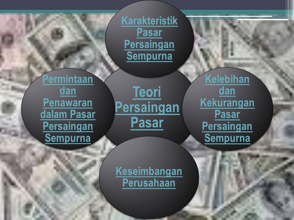 Suatu perusahaan dapat dikatakan berada dalam pasar persaingan sempurna (perfect competition), apabila terdapat perusahaan yang begitu banyak sedangkan kemampuan setiap perusahaan sangat kecil untuk mempengaruhi harga pasar.