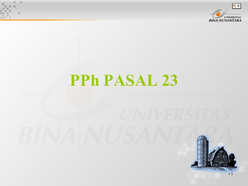 11 PPh PASAL 23