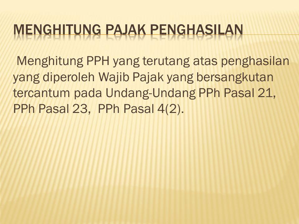 1.Tarif PPh untuk WP orang pribadi dalam negeri 2.