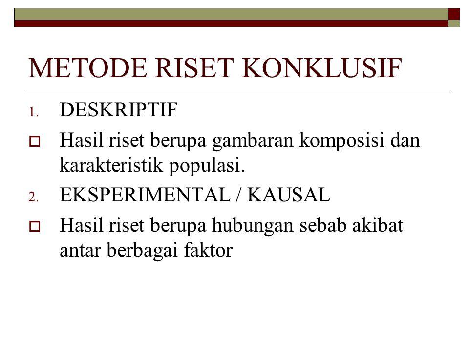 METODE RISET KONKLUSIF 1.