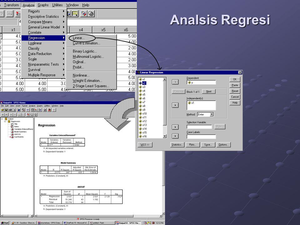Analsis Regresi