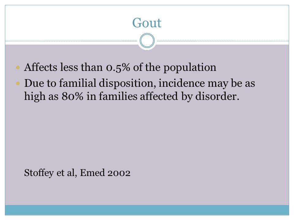Gout DEFINISI : Artritis perifer akibat dari deposit kristal sodium urat pada minimal salah satu sendi Ditandai dengan inflamasi, kemerahan, nyeri yan
