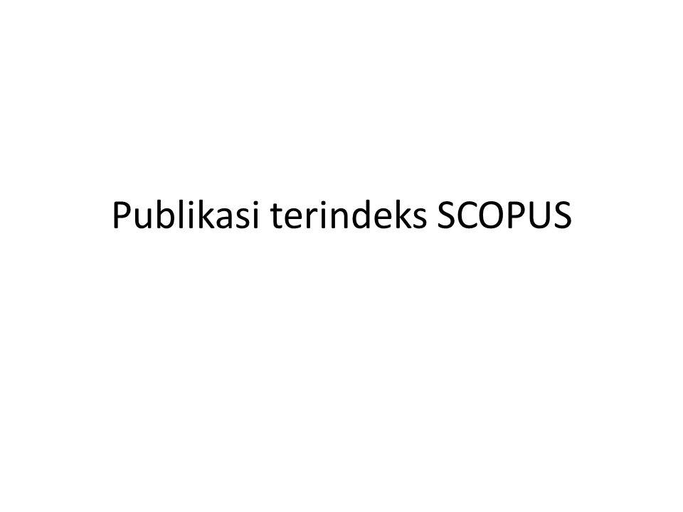 Publikasi terindeks SCOPUS