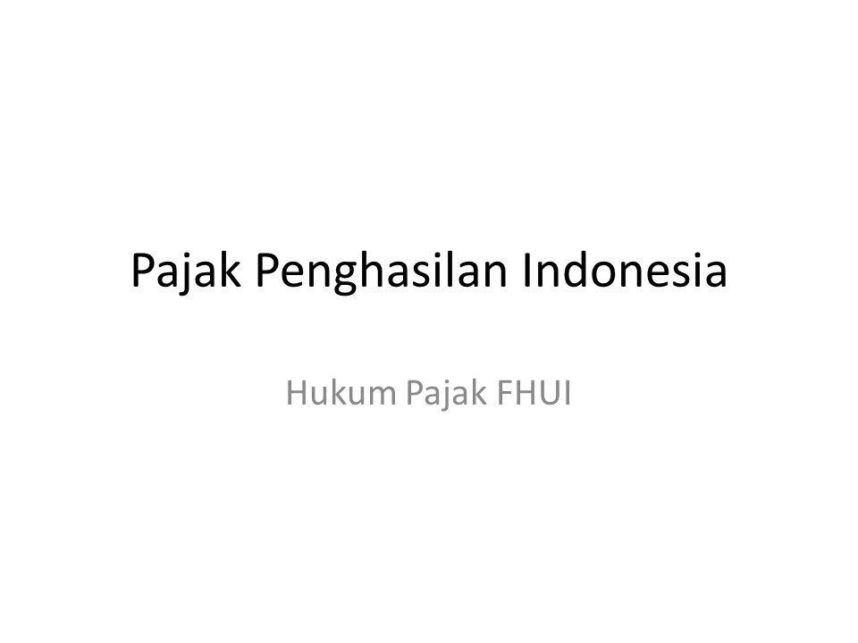 Pajak Penghasilan Indonesia Hukum Pajak FHUI