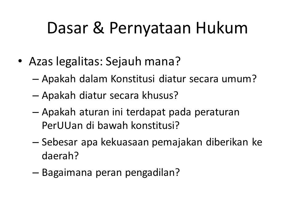 Objek Pajak Indonesia Pasal 4 ayat 1 UU PPh – setiap tambahan kemampuan ekonomis yang diterima atau diperoleh Wajib Pajak, – baik yang berasal dari Indonesia maupun dari luar Indonesia, – yang dapat dipakai untuk konsumsi atau untuk menambah kekayaan Wajib Pajak yang bersangkutan