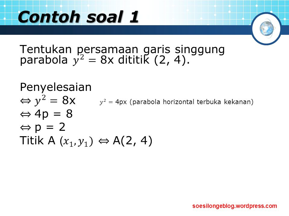 soesilongeblog.wordpress.com Contoh soal 1