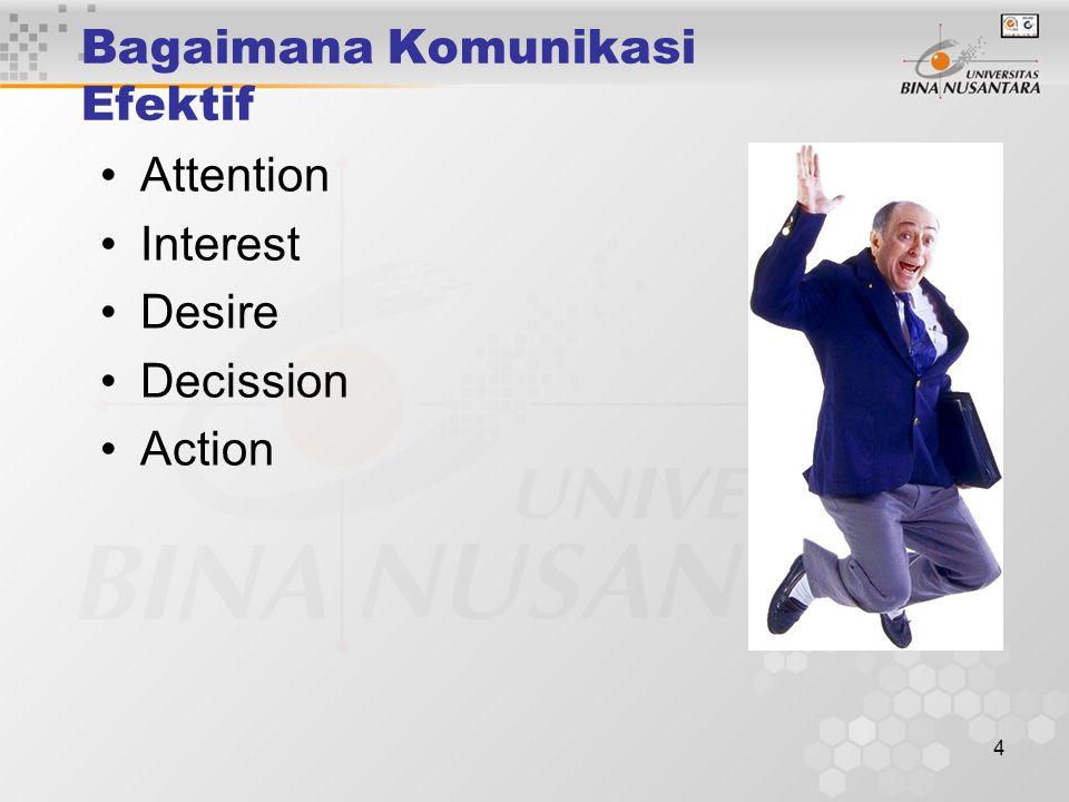 4 Bagaimana Komunikasi Efektif Attention Interest Desire Decission Action