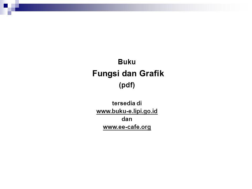 Buku Fungsi dan Grafik (pdf) tersedia di www.buku-e.lipi.go.id dan www.ee-cafe.org