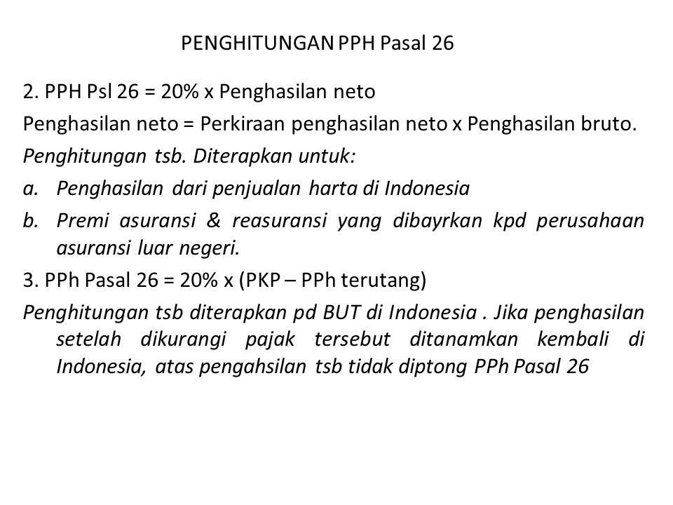 Suatu BUT di Indonesia memperoleh Penghasilan Kena Pajak sebesar Rp17.500.000.000.