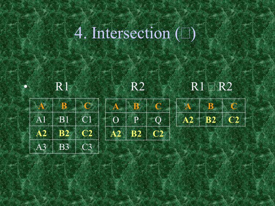 4. Intersection (  R1 R2 R1  R2 ABC OPQ A2B2C2 ABC A1B1C1 A2B2C2 A3B3C3 ABC A2B2C2