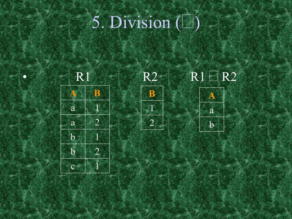 5. Division (  ) B 1 2 AB a1 a2 b1 b2 c1 R1 R2 R1  R2 A a b