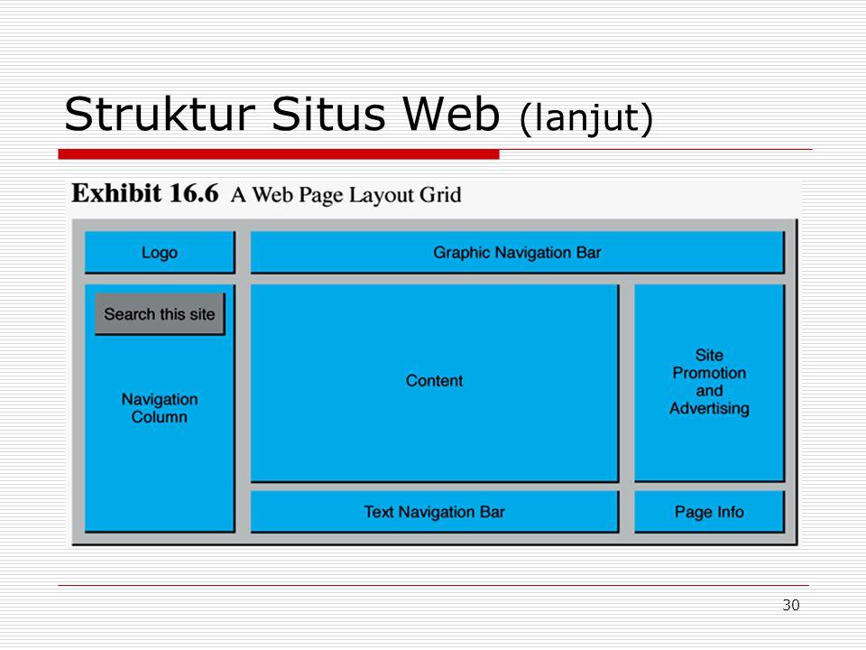 30 Struktur Situs Web (lanjut)