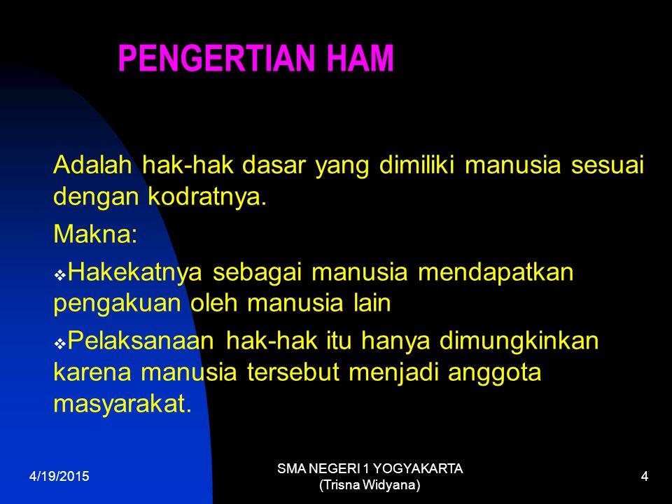 Dasar Hukum HAM di Indonesia a.Pembukaan UUD 1945 b.