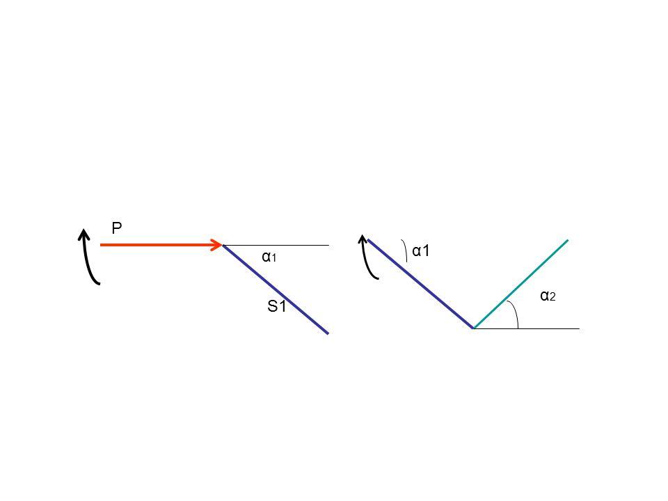 S1 P α1α1 α2α2 α1