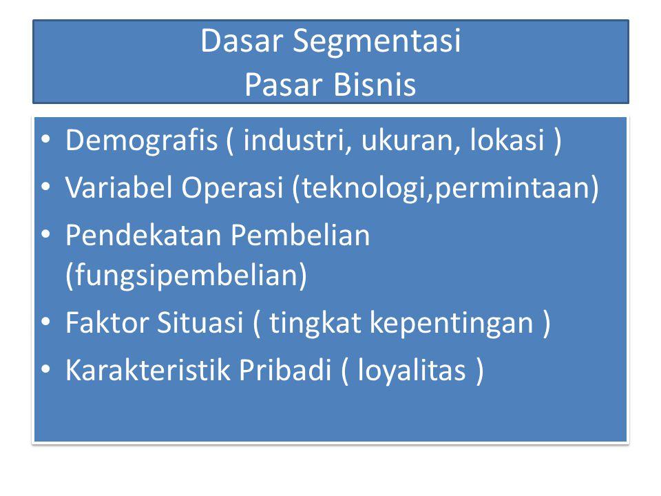 Dasar Segmentasi Pasar Konsumen Geografis Wilayah, Ukuran kota atau ibukota, Kepadatan, Iklim Demografis Usia, Jenis kelamin, Ukuran dan siklus hidup