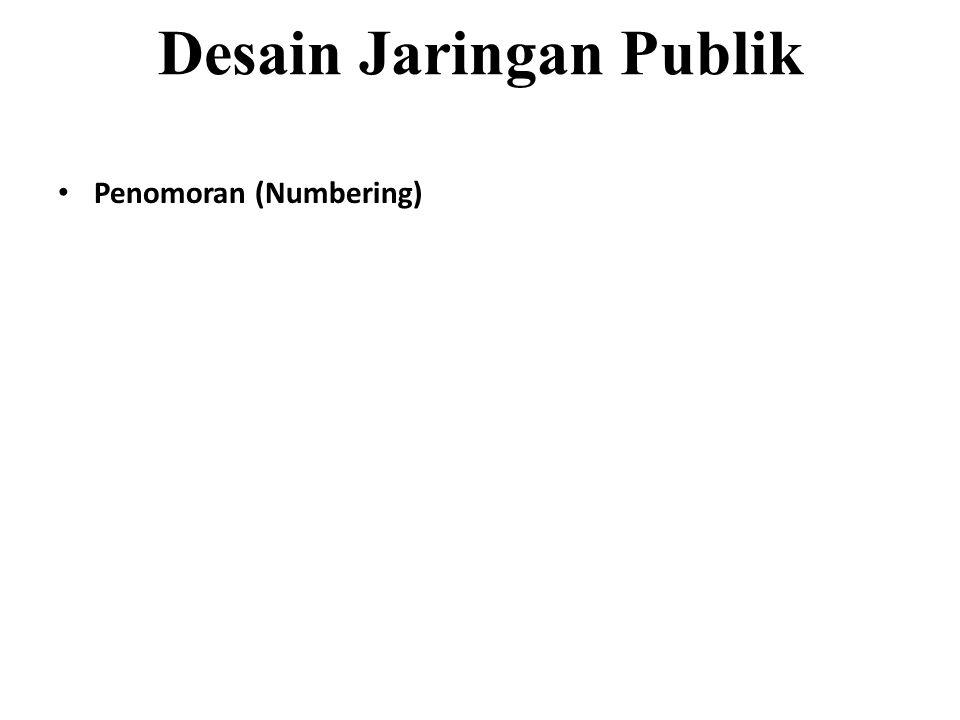 Desain Jaringan Publik Penomoran (Numbering)