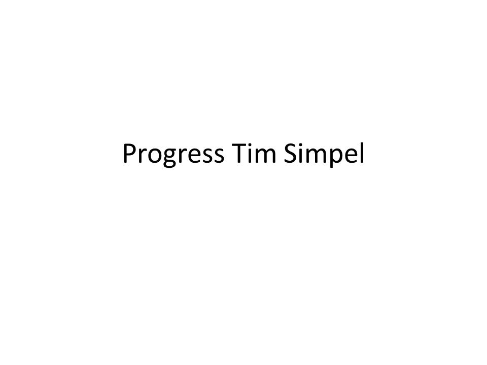 Progress Tim Simpel