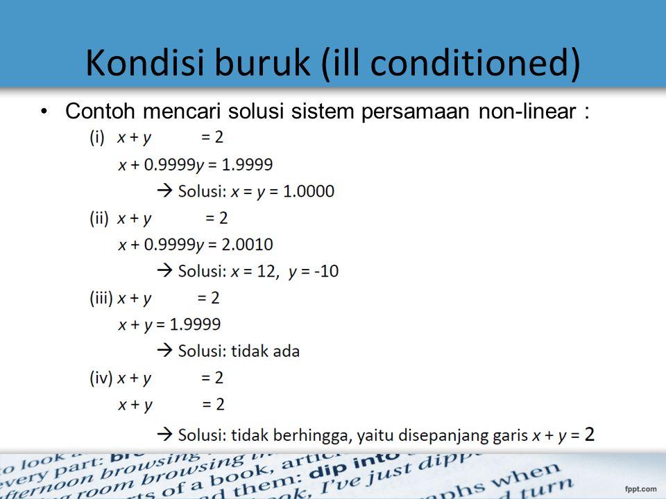 Contoh mencari solusi sistem persamaan non-linear :