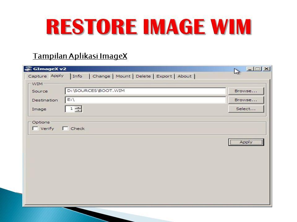 Tampilan Aplikasi ImageX