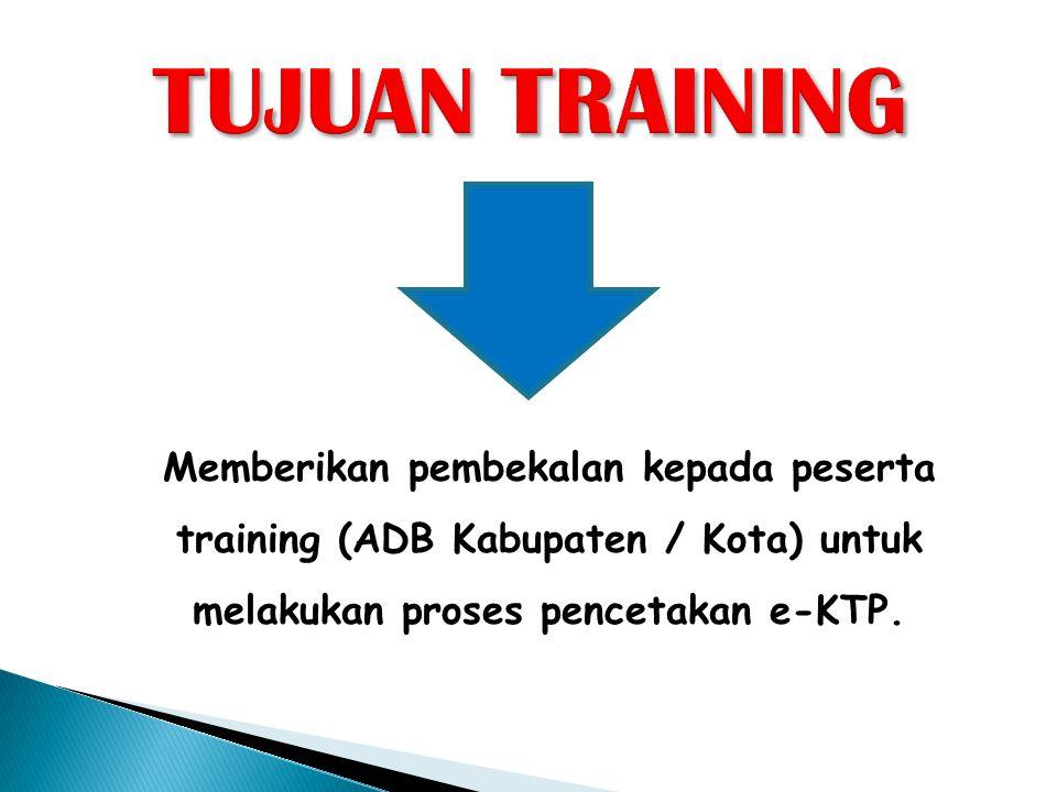  Tujuan dari setting koneksi ini agar Server e-KTP, PC Client dan Server SIAK Pelayanan dapat berinteraksi pada proses pencetakan blanko e-KTP.