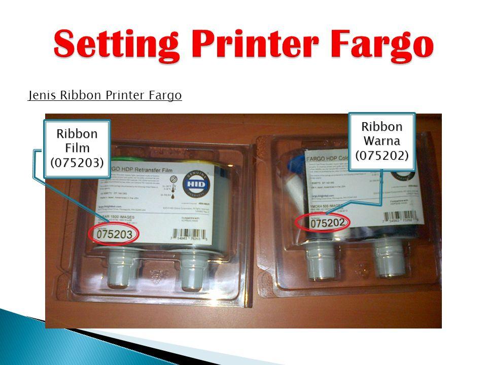 Jenis Ribbon Printer Fargo Ribbon Film (075203) Ribbon Warna (075202)