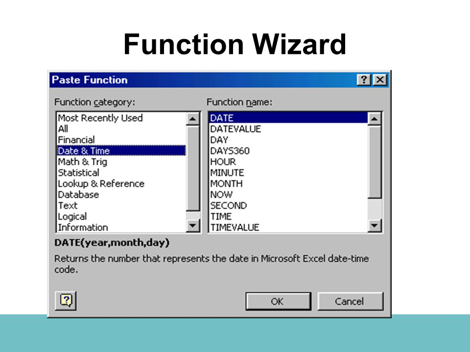 Function Wizard