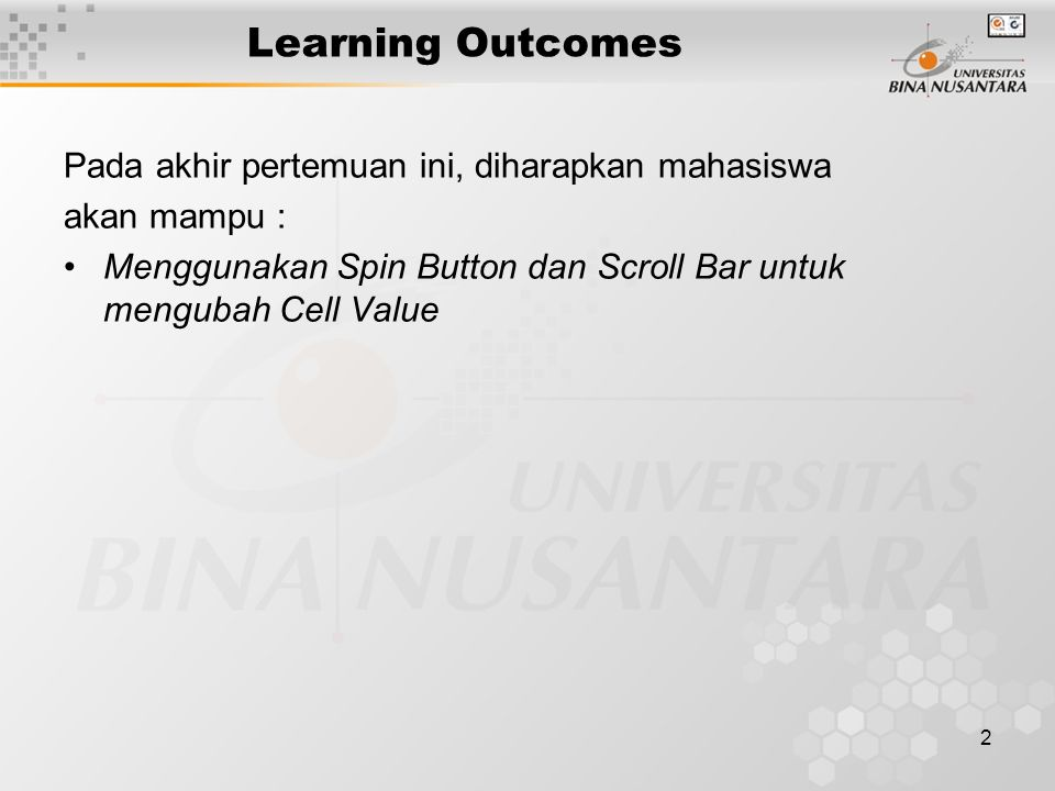 3 Outline Materi Spin Button Scroll Bar
