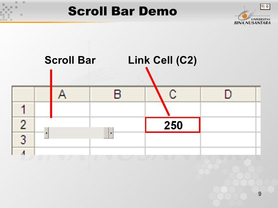 10 Latihan - 08 Buka file F0292_Latihan_08.pdf dari server Kerjakan latihan tersebut dalam file baru dengan nama : F0292_LAT08_NamaPendek.xls, dikumpulkan pada akhir Pertemuan ini.