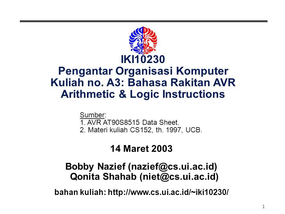 2 Arithmetic Instructions