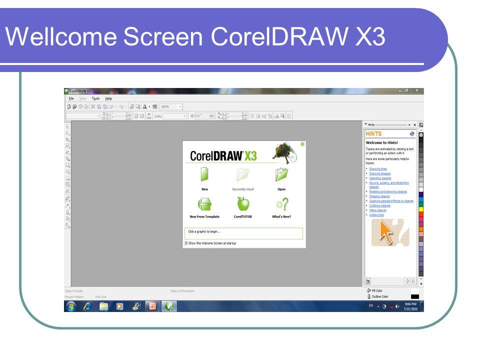 Wellcome Screen CorelDRAW X3