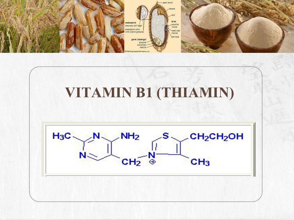 Vitamin B1 (Thiamin) adalah senyawa yang mengandung thio (S) dan amin.