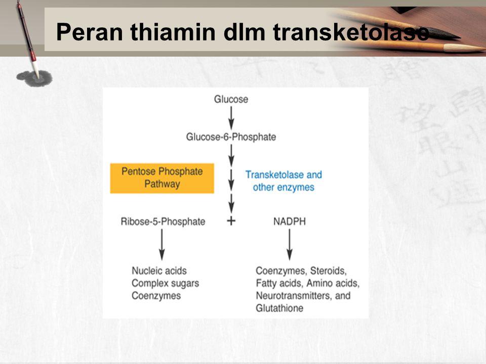 Peran thiamin dlm transketolase