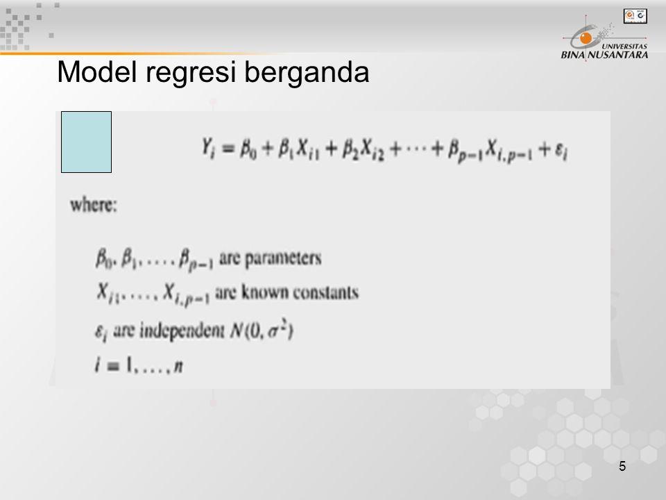6 Dalam notasi matrik dapat dituliskan sebagai